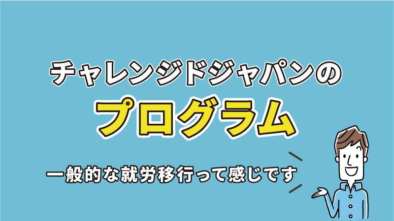 チャレンジドジャパンのプログラム内容